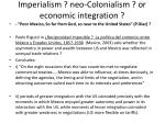 imperialism neo colonialism or economic integration
