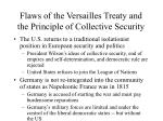 flaws of the versailles treaty and the principle of collective security