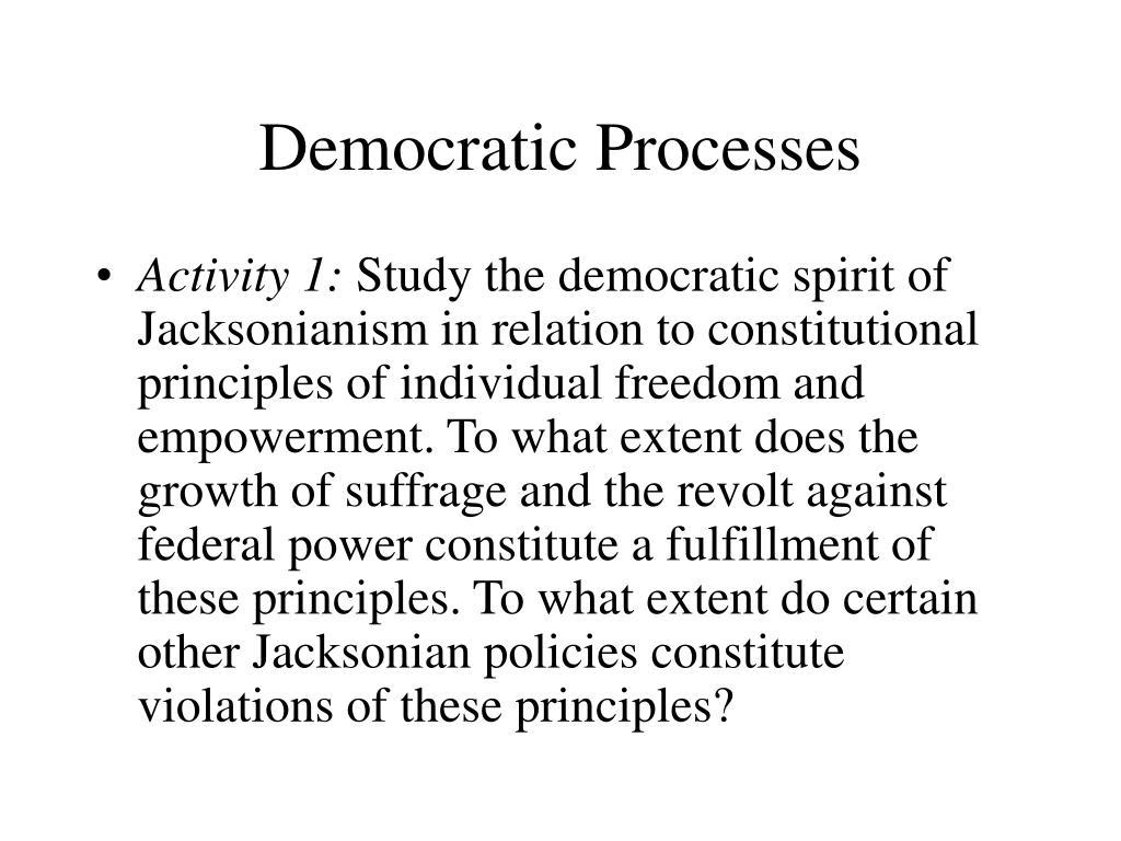 Democratic Processes