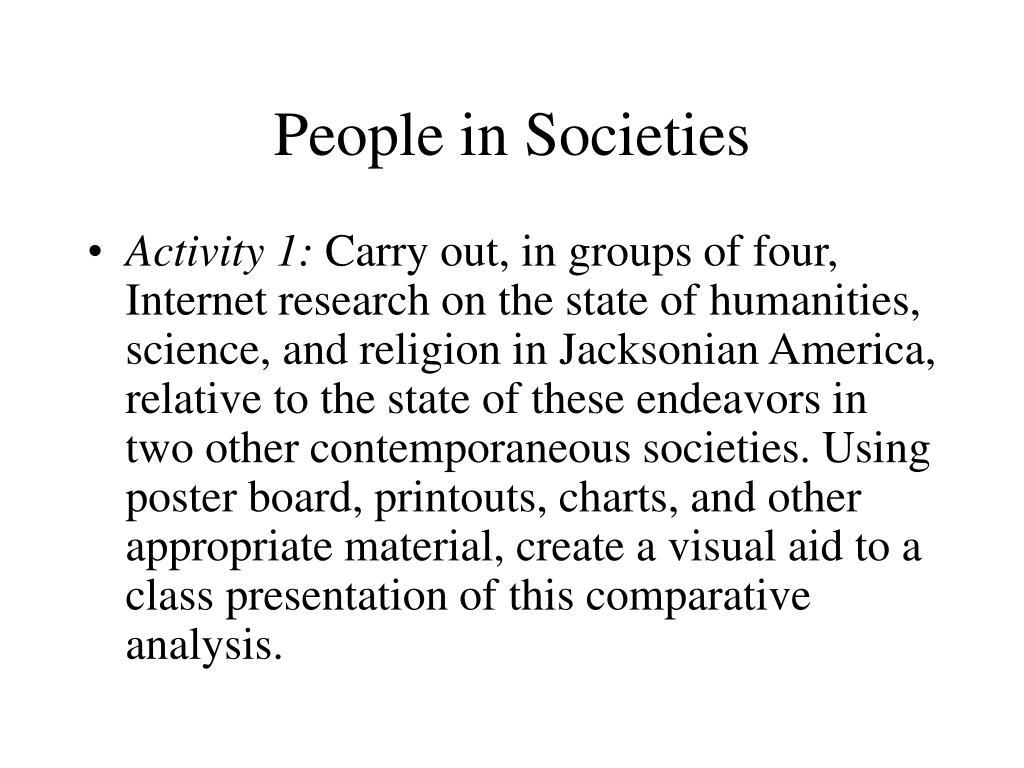 People in Societies