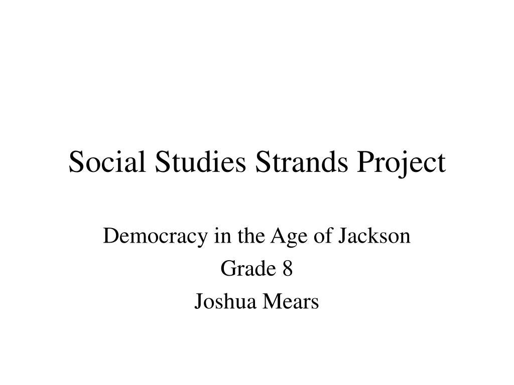 Social Studies Strands Project