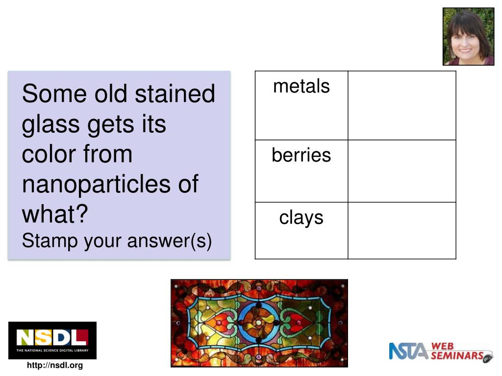 Some old stained glass gets its color from nanoparticles of what?