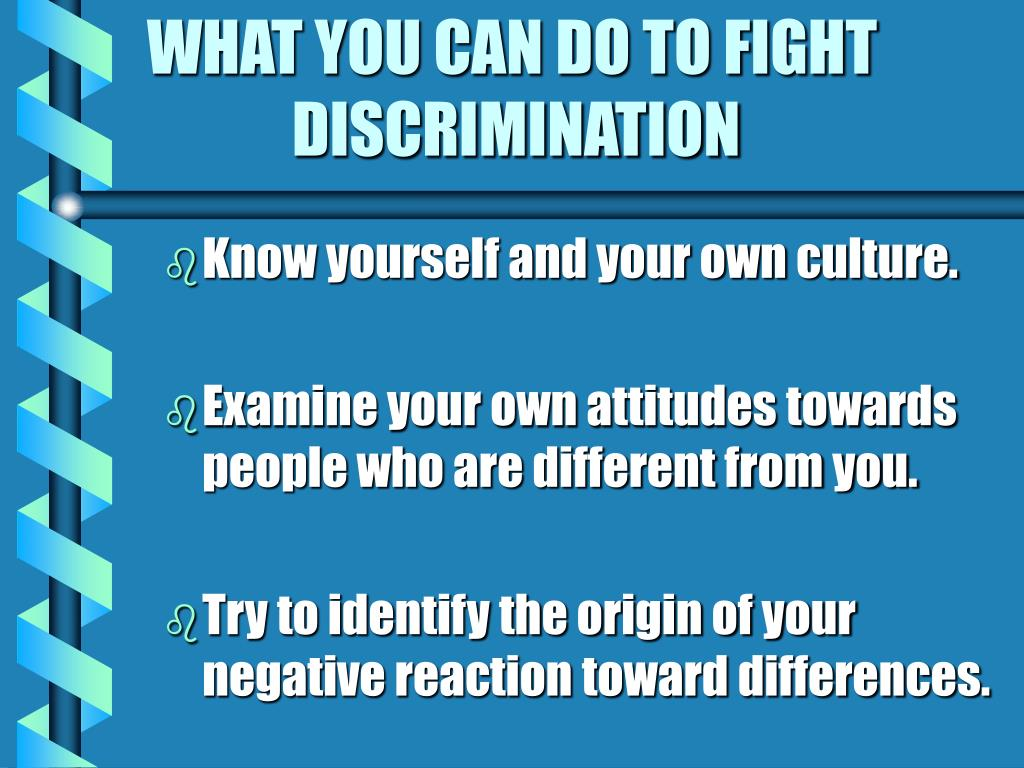WHAT YOU CAN DO TO FIGHT