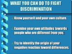 what you can do to fight discrimination