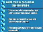 what you can do to fight discrimination19