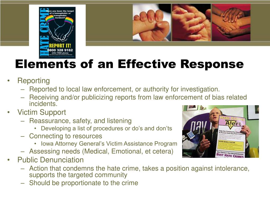 Elements of an Effective Response