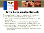 iowa demographic outlook