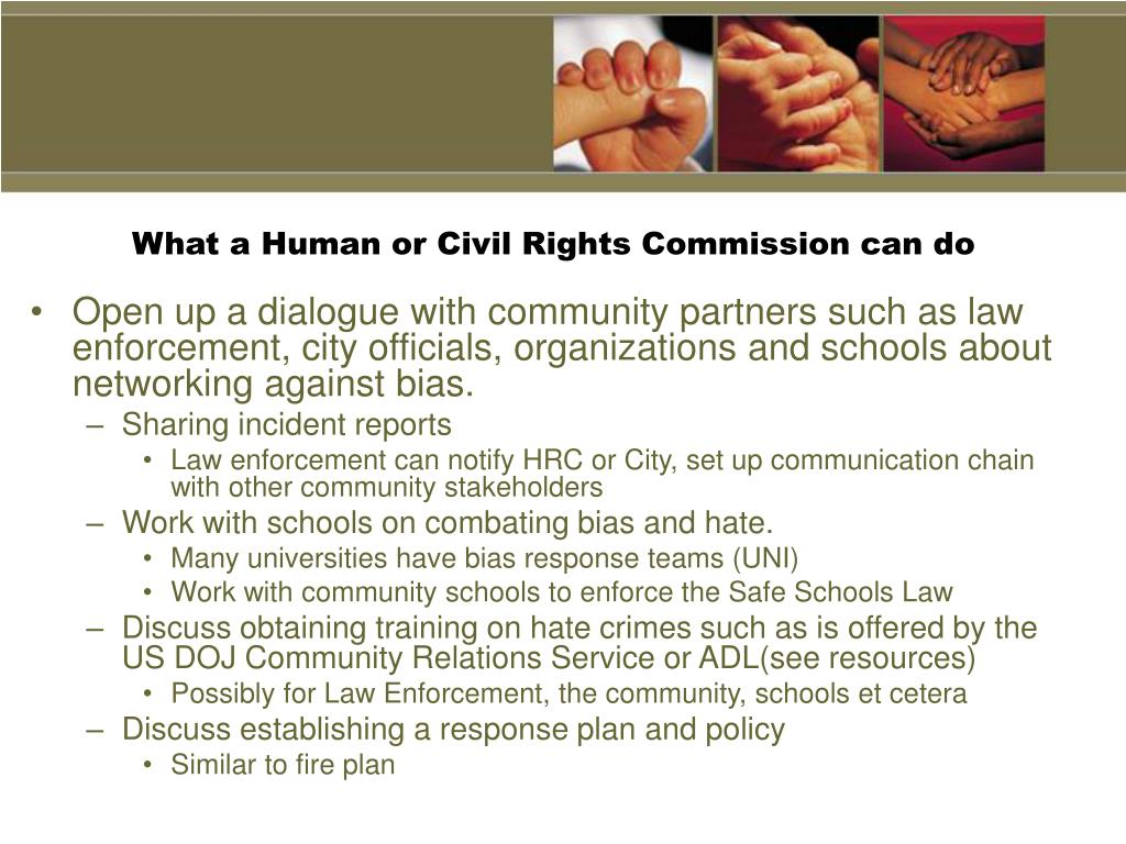 What a Human or Civil Rights Commission can do