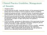 clinical practice guideline management of sinusitis