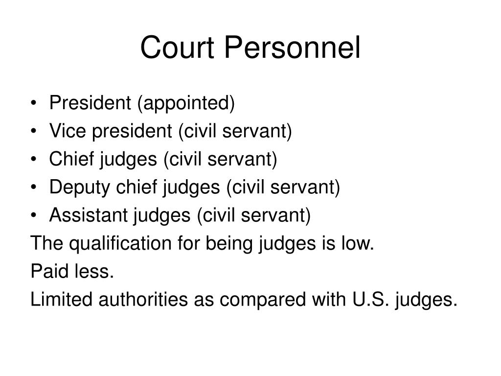 Court Personnel