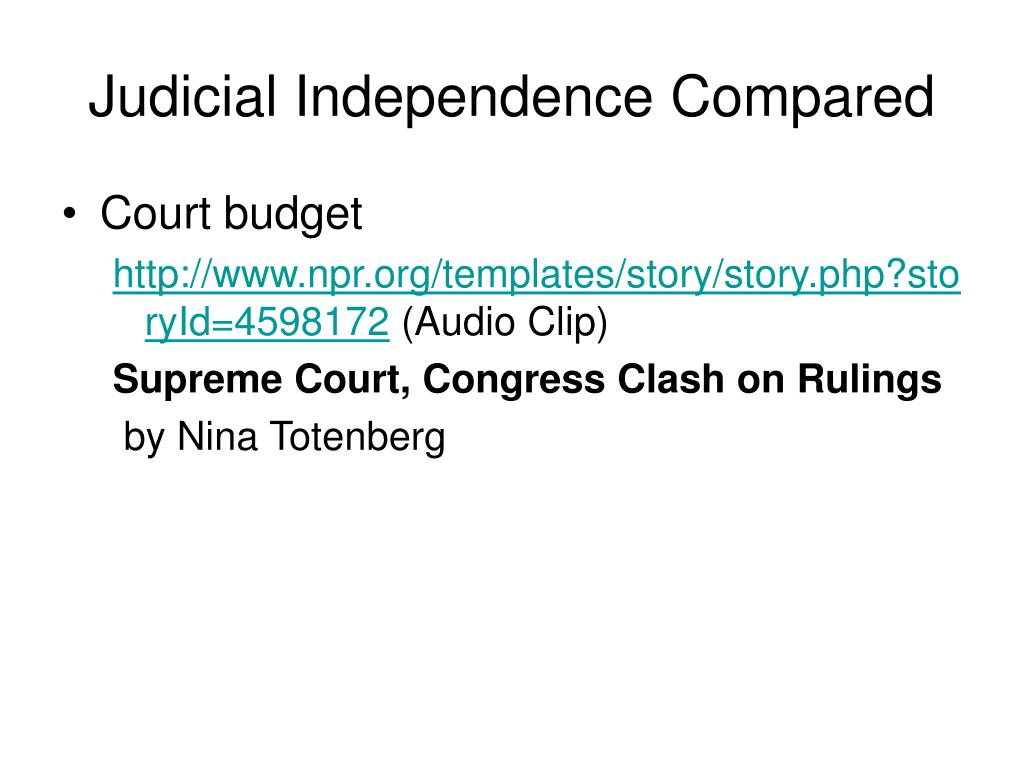 Judicial Independence Compared