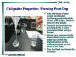 colligative properties freezing point dep