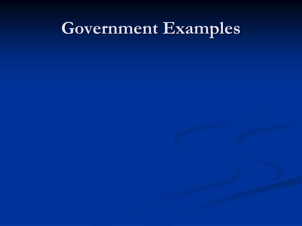 Government Examples