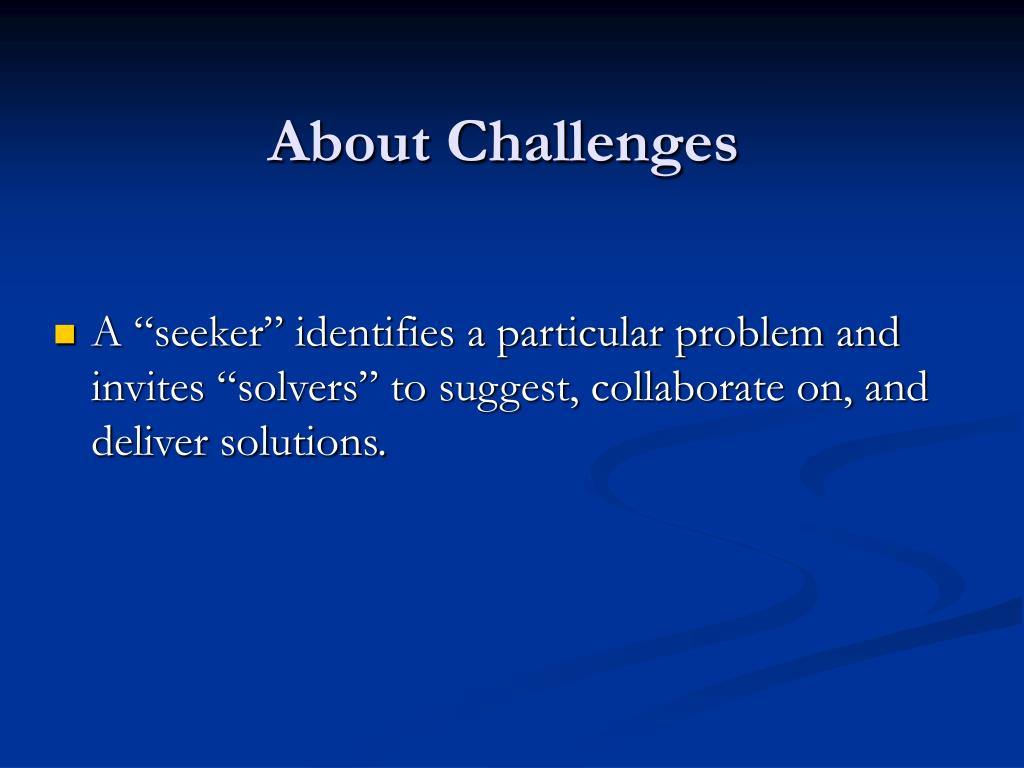 About Challenges