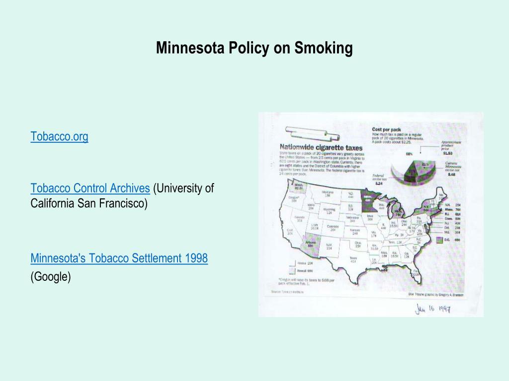 Minnesota Policy on Smoking