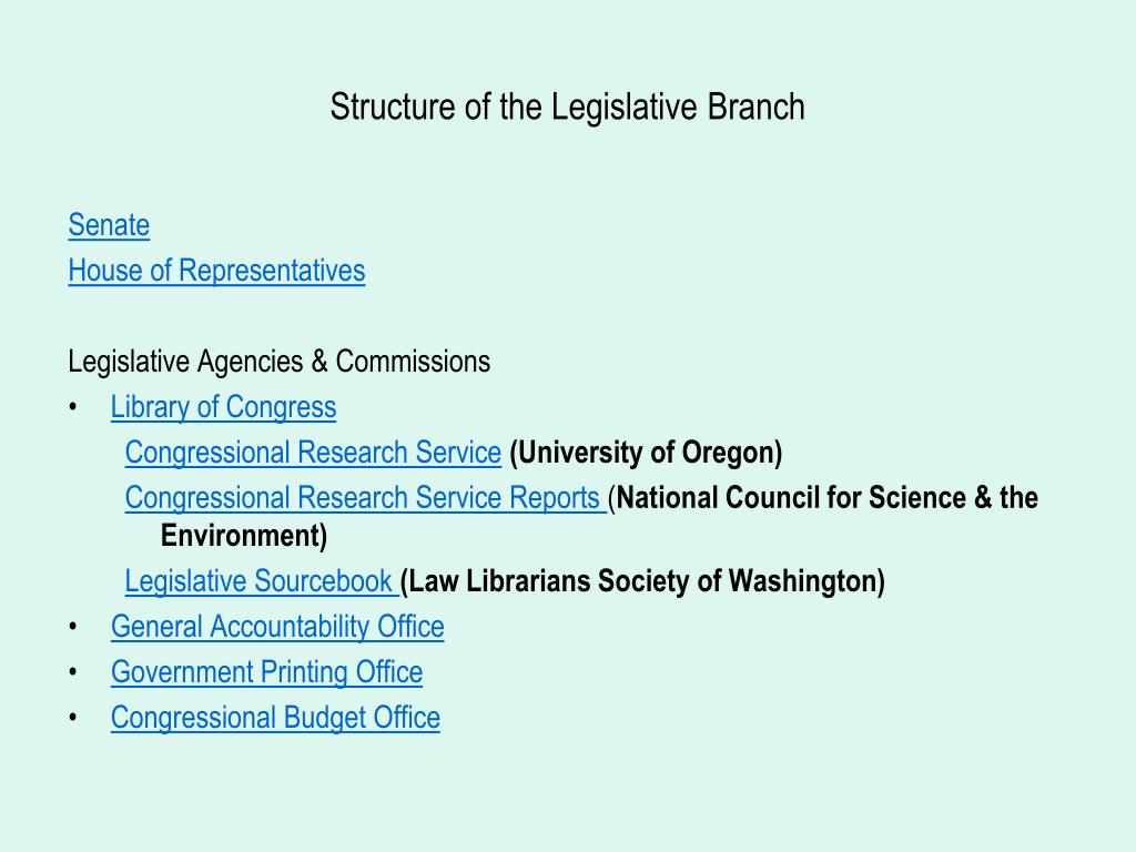Structure of the Legislative Branch