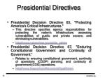 presidential directives
