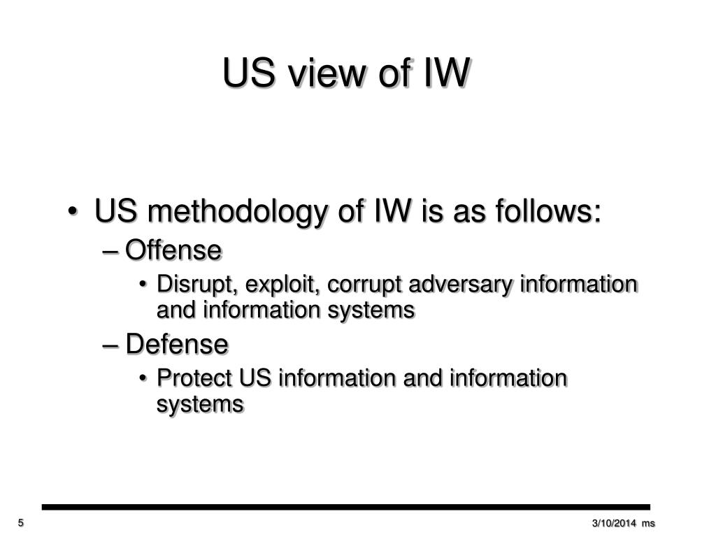 US view of IW