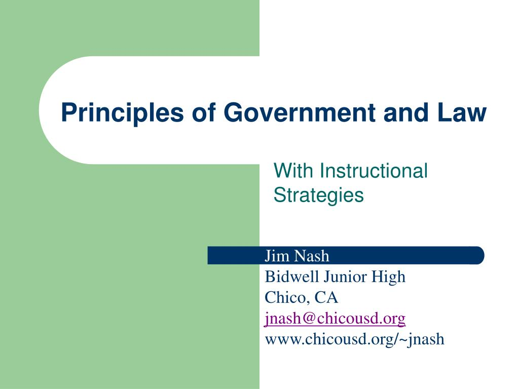 Principles of Government and Law