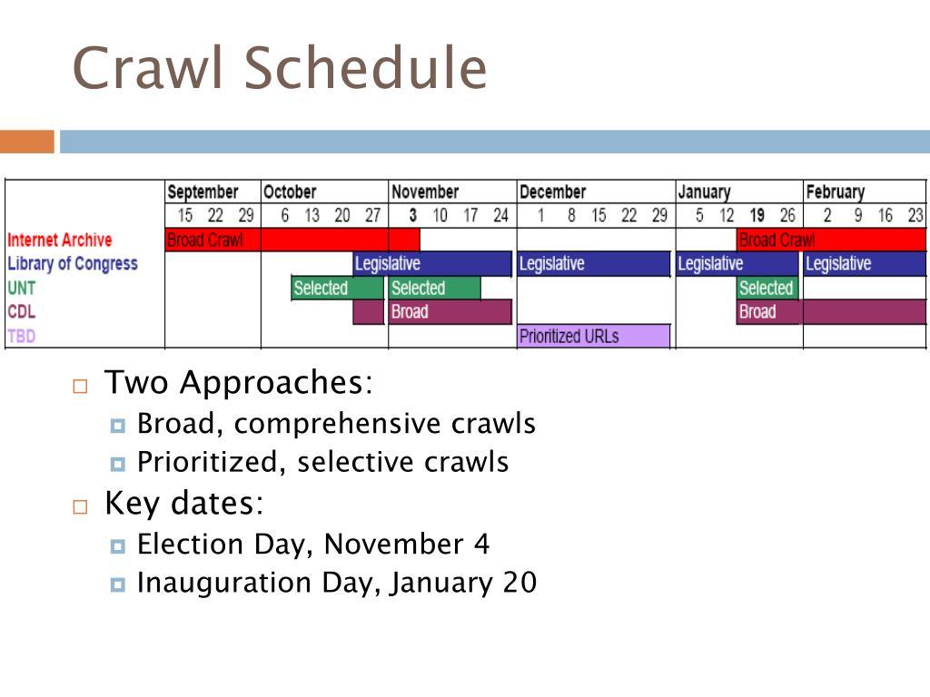 Crawl Schedule