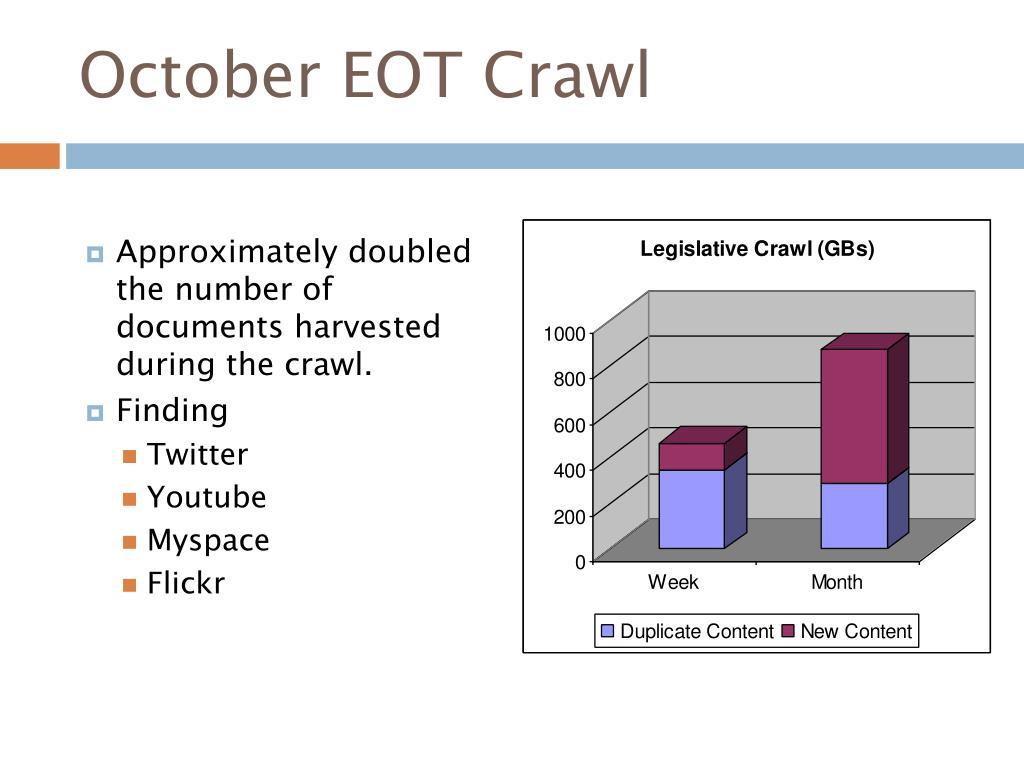 October EOT Crawl