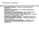 partner roles