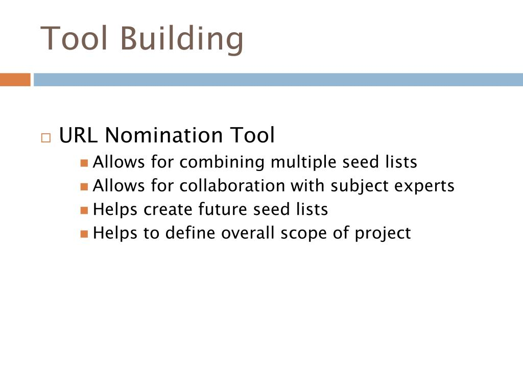 Tool Building