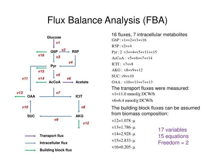 Flux balance analysis fba
