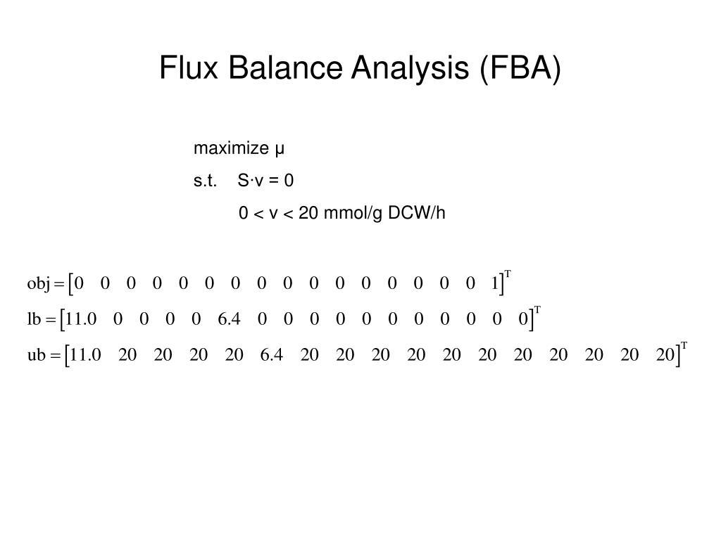 Flux Balance Analysis (FBA)