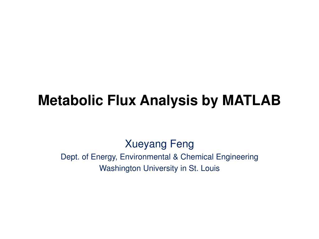 Metabolic Flux Analysis by MATLAB
