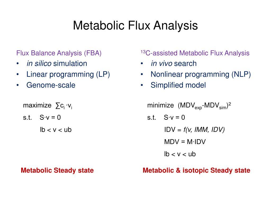 Metabolic Flux Analysis