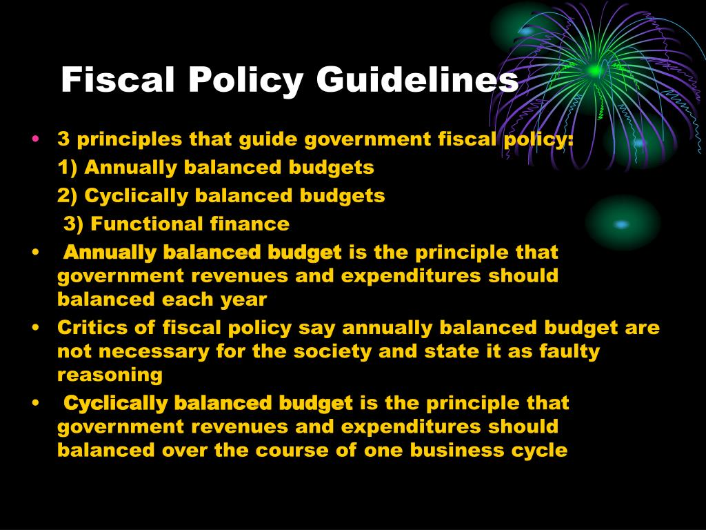 Fiscal Policy Guidelines