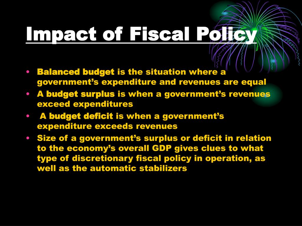 Impact of Fiscal Policy