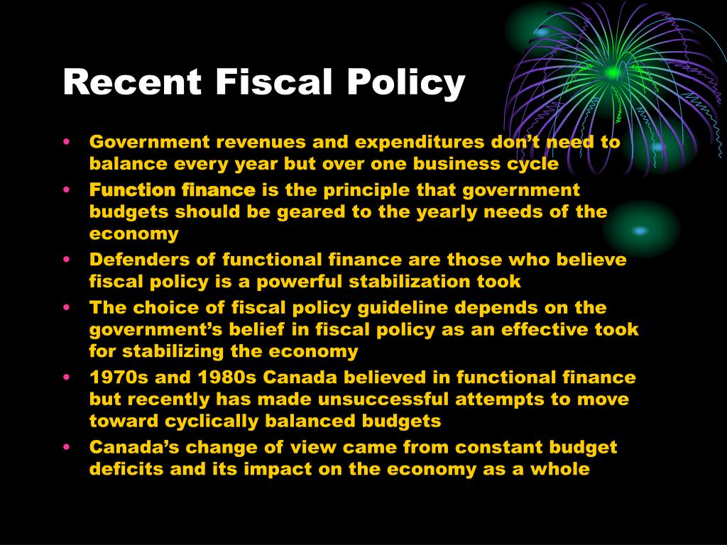 Recent Fiscal Policy