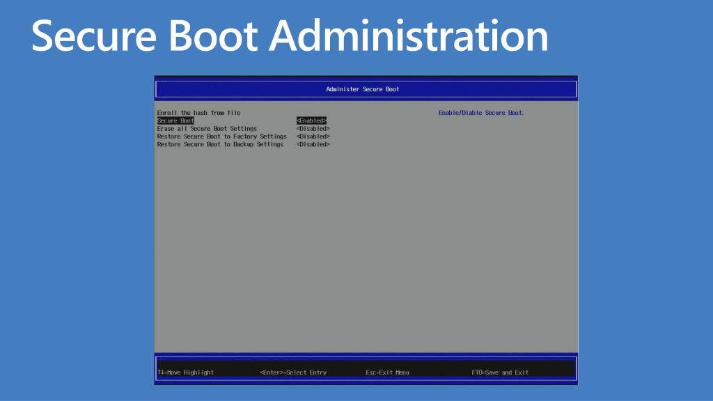 Secure Boot Administration