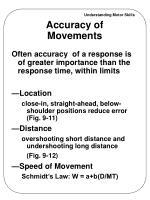 accuracy of movements