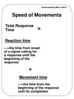 speed of movements