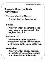 terms to describe body movements