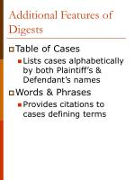 additional features of digests
