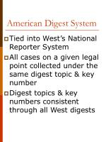 american digest system