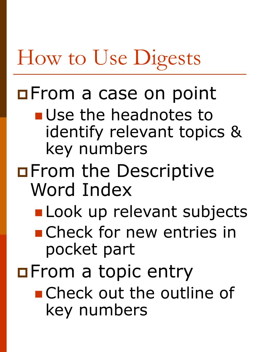 How to Use Digests