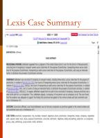 lexis case summary