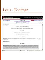 lexis footman