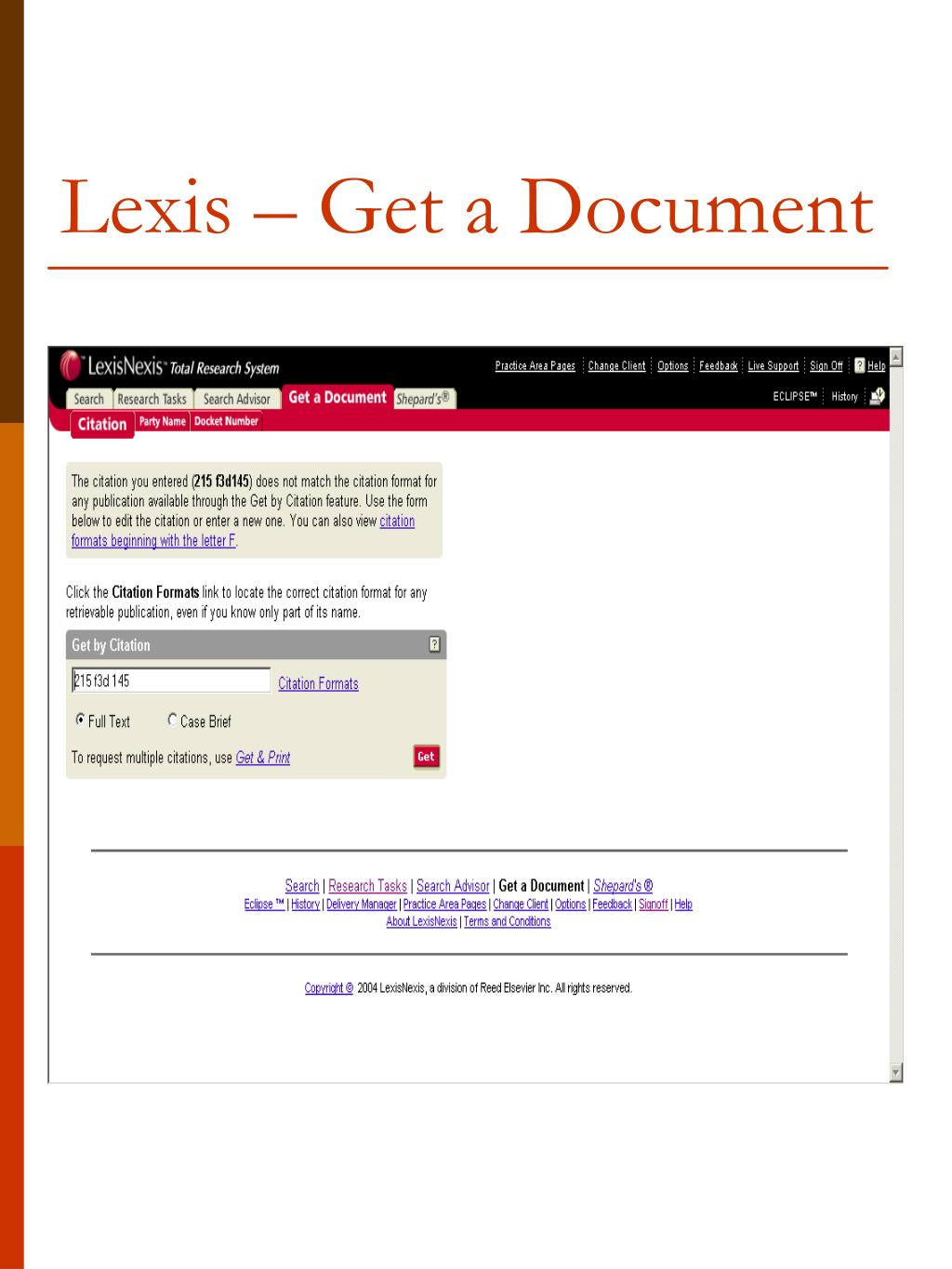 Lexis – Get a Document