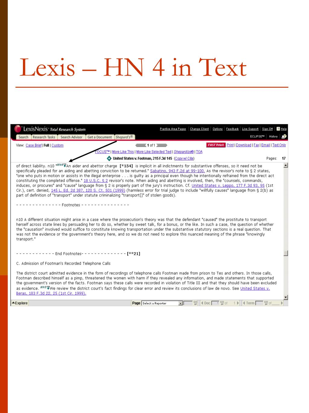 Lexis – HN 4 in Text