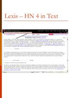 lexis hn 4 in text