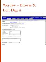 westlaw browse edit digest