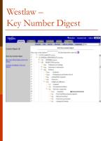 westlaw key number digest