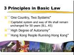 3 principles in basic law
