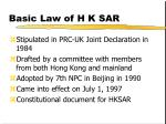 basic law of h k sar
